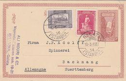 Turquie Entier Postal Pour L'Allemagne 1931 - 1921-... République