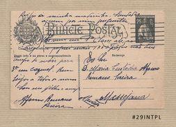 Portugal #29 Inteiro Postal Postal Stationery Circulado Lisboa /Messejana 1925 Ceres 25C - Enteros Postales