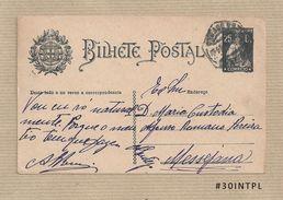 Portugal #30 Inteiro Postal Postal Stationery Circulado Lisboa /Messejana 1925 Ceres 25C - Enteros Postales
