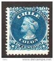 """Chili ;1867; N° Y : 14;ob.manuel.; """"C.Colomb"""" Cote : 3.00 E. - Chile"""