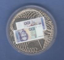 """100 ? Sondermünze """"Abschied Einer Währung"""", Dm 40 Mm, Höhe 3 Mm, - Münzen"""