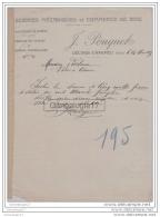 38 1761 DECINES CHARPIEU ISERE 1917 Scierie Mecanique J. POUQUET Commerce De Bois ˆ VACHERON Bois  ˆ CREMIEU - France