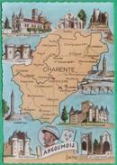 16 - Carte Géographique Du Département De La Charente - Editeur: Gilbert N°161201 - Francia