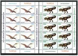 Armenien/Armenie/Armenia 2017,  Fauna Of The Ancient World, Dinosaurs, Pterosaur, Tyrannosaurus Sheets - MNH - Stamps