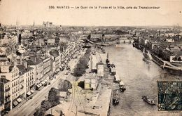 NANTES - Le Quai De La Fosse Et La Ville, Pris Du Transbordeur - Nantes