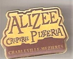 H157 Pin's Alimentation PIZZERIA ALIZEE CHARLEVILLE ARDENNES Achat Immédiat - Food
