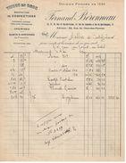 Facture Ancienne/ Tissus En Gros /Manufacture Chemises/Fernand Béronneau/BORDEAUX/ Malbec/CASTELJALOUX//1920     FACT273 - Textile & Vestimentaire