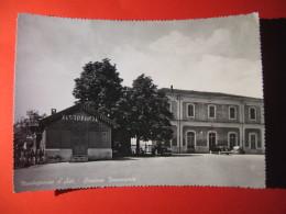 CARTOLINA  MONTEGROSSO D 'ASTI STAZIONE FERROVIARIA  ANIMATA   - D 2421 - Asti