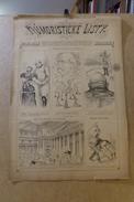 Revue Journal Humoristicke Listy Satirique Caricature 43 X 30 Germany Allemagne Bismarck N° 14 De 1895 - Magazines & Newspapers