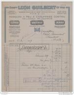 75 14 826 PARIS SEINE 1939 Marque A Feu Chauffage Essence Electricite LEON GUILBERT Rue Montlouis Marque PHLOX PYTHAGORE - France