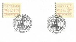Austria 1990 Hollabrunn European Youth Championship Table Tennis ATM FRAMA Meter Franking Card - Tafeltennis