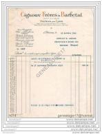 69 3329 DECINES Pres LYON RHONE 1929 Ether Ampoules Medicinales GIGNOUX FRERES Et BARBEZAT Plantes Drogues ˆ MORIAUX - France