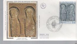 FDC -  Enveloppe 1er Jour SAINT GENIS DES FONTAINES - 24-1-1976 - SAINT GENIS DES FONTAINES - 1970-1979