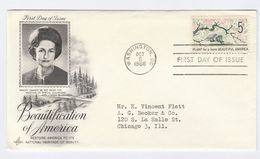 1966  USA FDC BEAUTIFICATION, ENVIRONMENT , TREES Stamps Cover By Art Craft Tree - Environment & Climate Protection