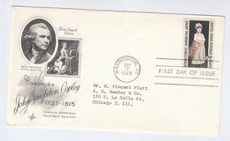 1965 USA FDC  JOHN SINGLETON COPLEY ART  Stamps Cover By Art Craft Dog Dogs - Art