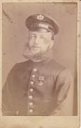 CDV Foto Deutscher Soldat Mit Vollbart - Atelier Verra, Rosenheim - 10*6cm - Ca. 1910 (32317) - Guerre, Militaire
