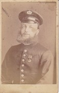 CDV Foto Deutscher Soldat Mit Vollbart - Atelier Verra, Rosenheim - 10*6cm - Ca. 1910 (32317) - Guerra, Militari