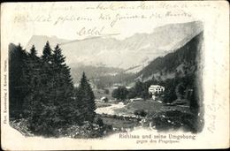 Cp Richisau Kanton Glarus, Landschaftsmotiv, Blick Ins Tal Gegen Den Pragelpass - GL Glarus