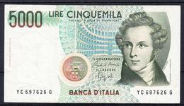 ITALIA 1985.  5000  LIRAS  V. BELLINI   MBC     B1136 - [ 2] 1946-… : Republiek