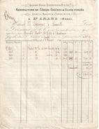 Facture Ancienne/Marine/Manufacture De Cables/St AMAND / Nord/ GRANVILLE/Manche/ Lefrançois/Second Empire/1866   FACT276 - France