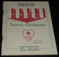 Rare Ancien Calendrier Sportif ASO Arago Sports-Orléanais 1949-1950, Sport Orléans 45, Publicités Anciennes Caricatures - Calendars