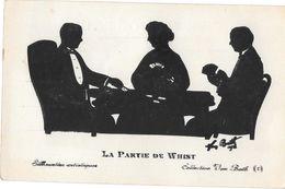 SILHOUETTE - LA PARTIE DE WHIST - SILHOUETTES ARTISTIQUES -COLLECTION VAN BATH  1914 - AURRAN ANNES - Silhouettes