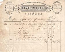 Facture Ancienne/Marine/Fabrique D'Articles De Pêche/ GRANVILLE/Manche/ Lefrançois/Armateur/Second Empire/1864   FACT277 - France