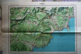 CANNES N°XXXVI- 44, Carte IGN 1/50 000°éditée 1966 (+ Agay, Mandelieu, Théoule, îles De Lérins Etc...) Bon état - Topographical Maps