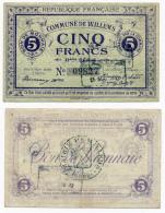 1914 - 1918 // Ville De WILLEMS  // Bon De Cinq Francs - Bonos