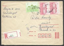 Hungary, Inland  Cover, Rare Registration Label, 1986. - Hongrie
