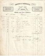 Facture Ancienne/Draperie & Nouveautés /Etoffes Pour Lits & Soieries/Paris /  Rue Grande / ISIGNY//Sortin /1857 FACT279 - Textile & Vestimentaire