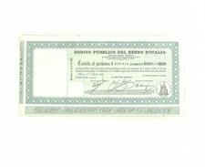 Cartella Al Portatore Lire 17.50 - Debito Pubblico Regno D'Italia Roma 1925 - Aandelen