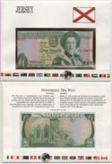 Notenbriefe Der Welt Jersey 1 Pound 1989 Signature 3 Im Schmuckumschlag Mit Erläuterungen; 1£ In Cover With Explanations - Jersey