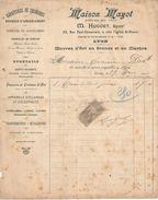 Facture Ancienne/Oeuvres D'Art En Bronze & En Marbre/Maison MAYOT/Huguet/LYON/1906 FACT244 - Textile & Vestimentaire