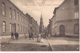 DUFFEL STATIESTRAAT EN KERK MARCOVICI 1913 Re 984 /d5 - Duffel