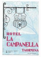 TAORMINA - HOTEL LA CAMPANELLA DEPLIANTS - Dépliants Turistici