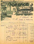 Fabrique De Pulvérisateur Brouillard Et Appareil D'éclairage à Acétylène, Ets François PINAUD, CASTELNAUDARY, 1923 - Otros