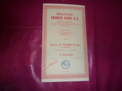 MINOTERIE CHARLES GUIEU (1956) MARSEILLE - Shareholdings