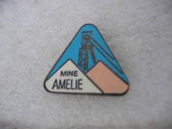 Pin's  MDPA( Mines De Potasse D'Alsace). Mine AMELIE. Chevalet Mines - Non Classés
