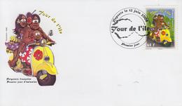 Enveloppe  FDC  1er  Jour   POLYNESIE   TOUR  DE  L' ILE    2008 - FDC
