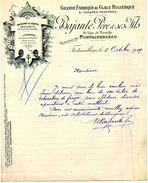 """""""Grande Fabrique De Glac Hygiénique Et Carafes Frappéesn, Ets BAJANTE, FONTAINEBLEAU, Rue De Neuville N° 18, 1919 - Andere Flessen"""