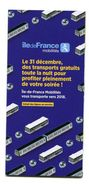 """Document à 5 Volets """"Transports Gratuits En Ile-de-France - 31/12/2017"""" Transport Ile-de-France SNCF / RATP - Non Classés"""