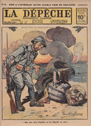 Caricature Satirique Baron Zeppelin Von Bissing Russes Contre Turcs Grand-Duc Nicolas Empire Ottoman Erzeroum (3 Scans) - Riviste & Giornali