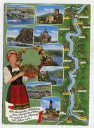 MAP - AK 310981 Germany - Rhein Von Koblenz Bis Rüdesheim - Landkarten