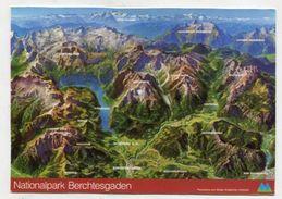 MAP - AK 310985 Germany - Nationalpark Berchtesgaden - Landkarten