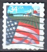 United States 2001 Flag Over Farm - Sc # 3495 - Mi 3510BA - Used - Etats-Unis
