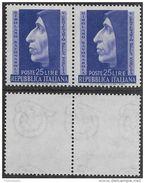 Italia Italy 1952 Girolamo Savonarola Coppia Sa N.696 Nuova Integra MNH ** - 1946-60: Nuovi