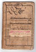 Livret Militaire Sizé Basile Né Mouzilly  Indre Loire 1876 20 ème Régiment D'artillerie   Voir Description - Documents
