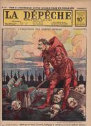 Caricature Satirique Anti-Kaïser Guillaume II Von Hindenburg Bataille Tcherna Armée Bulgare Troupes Serbes (3 Scans) - Français