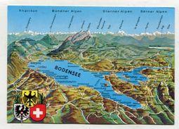 MAP - AK 311005 Germany - Der Bodensee - Landkarten